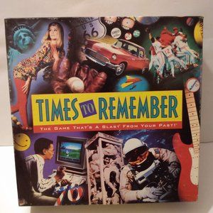 Vintage board game Times To Remember 1991 New